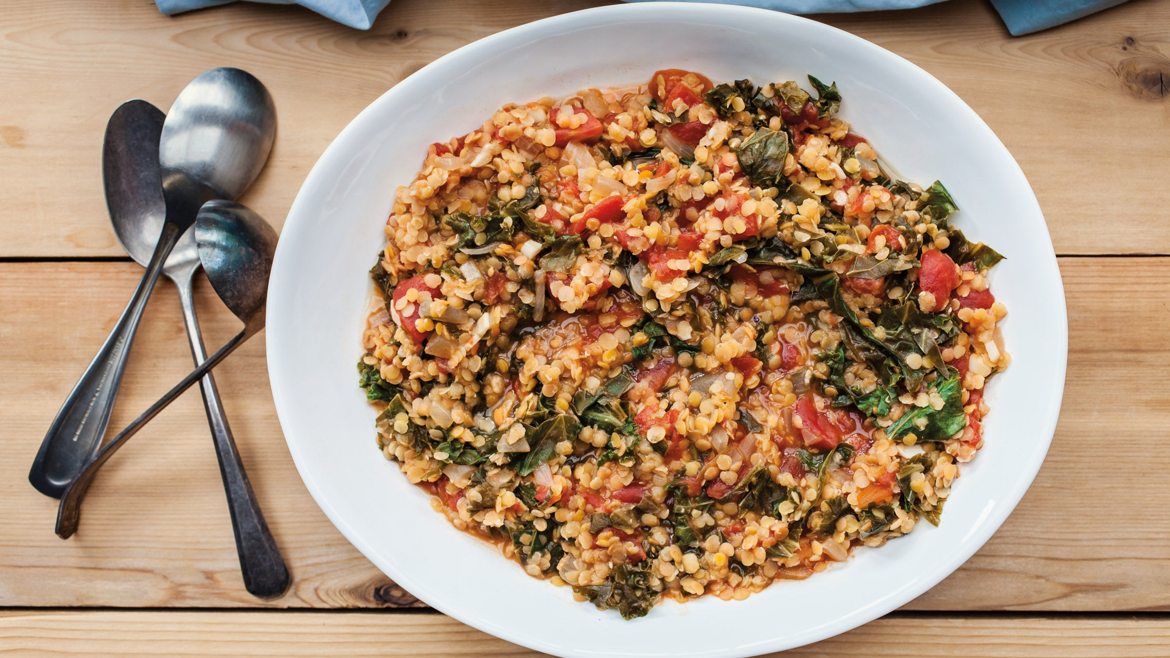 Red Lentils with Kale and Tomatoes - Women's Running