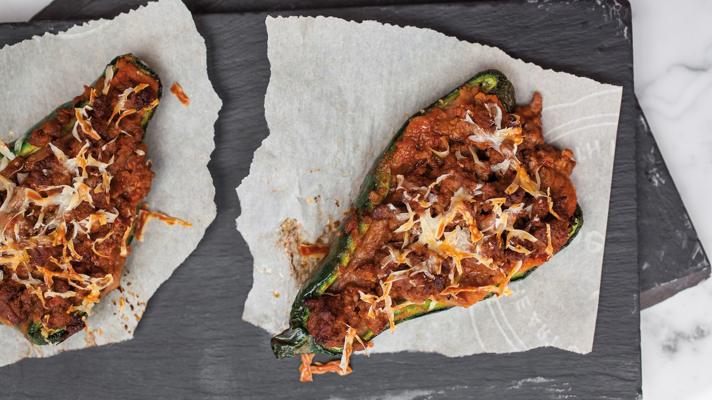 Quick Dinner Recipe: Beefy Stuffed Poblano Peppers