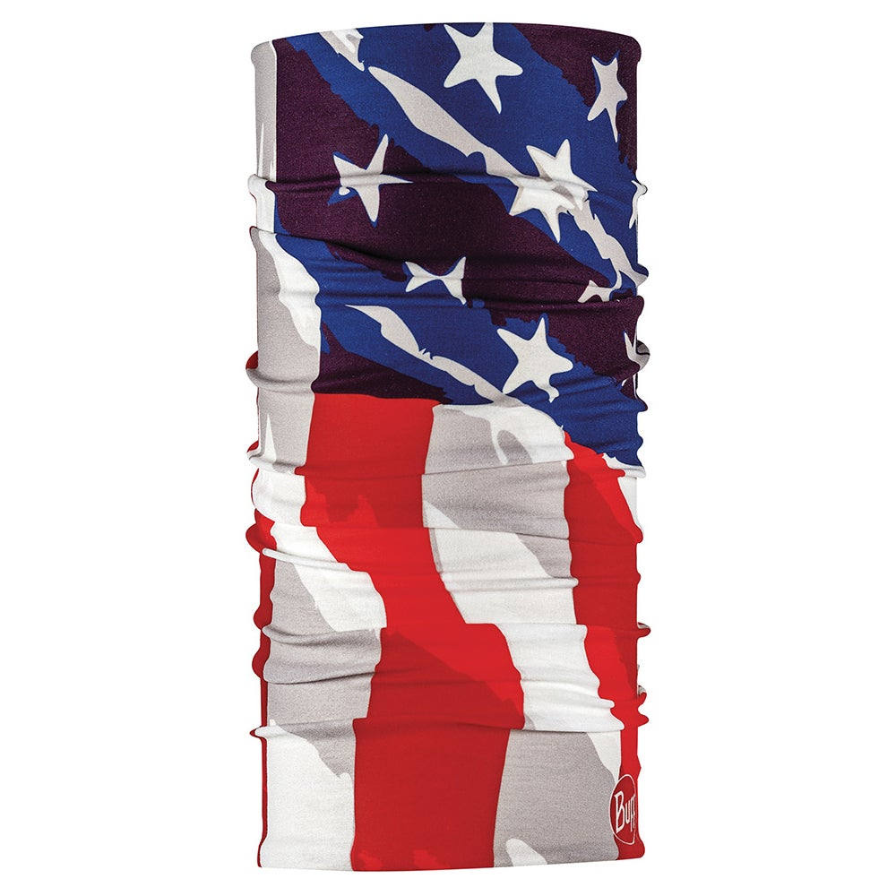 Buff neck gaiter with American flag pattern