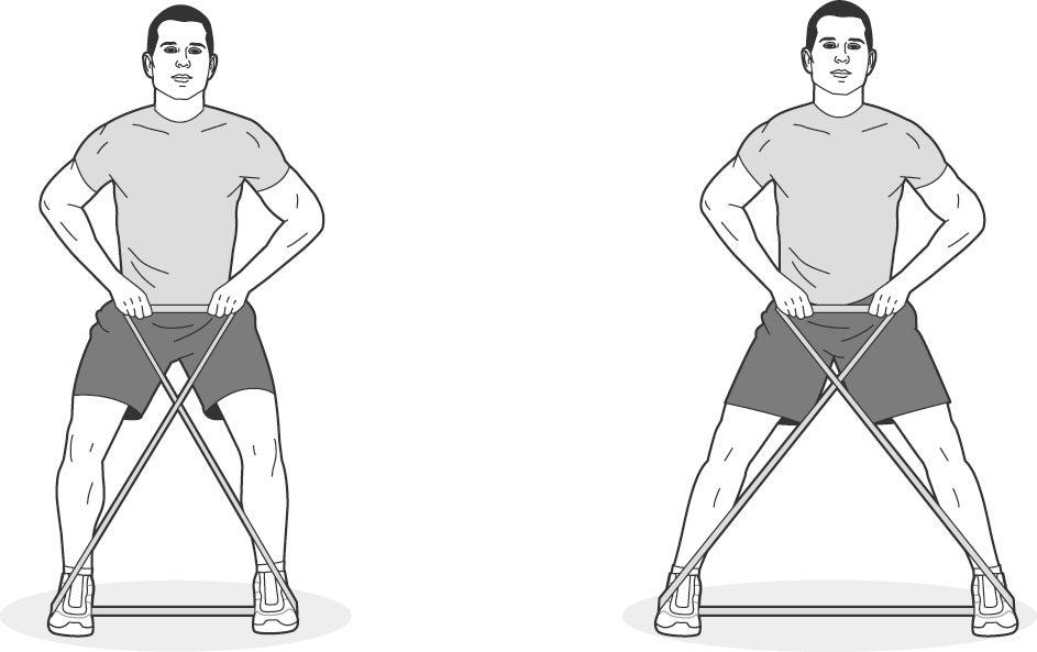 Illustration of man performing X-band walk