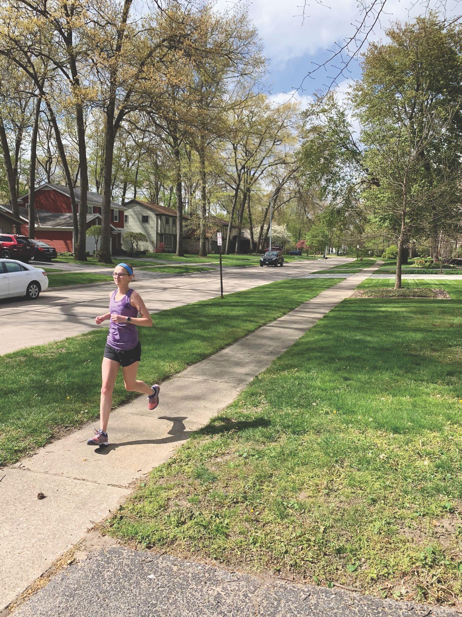Henson runs to help her anxiety.