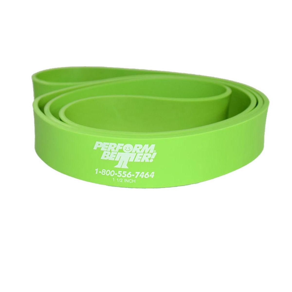 Banda de resistencia para el hogar Perform Better Superband en verde neón