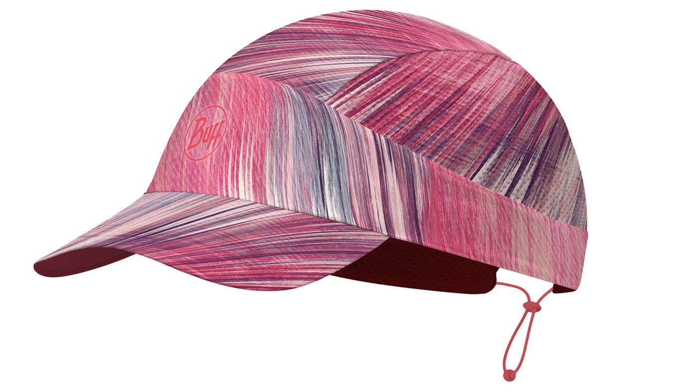 running cap from Buff in a pink design