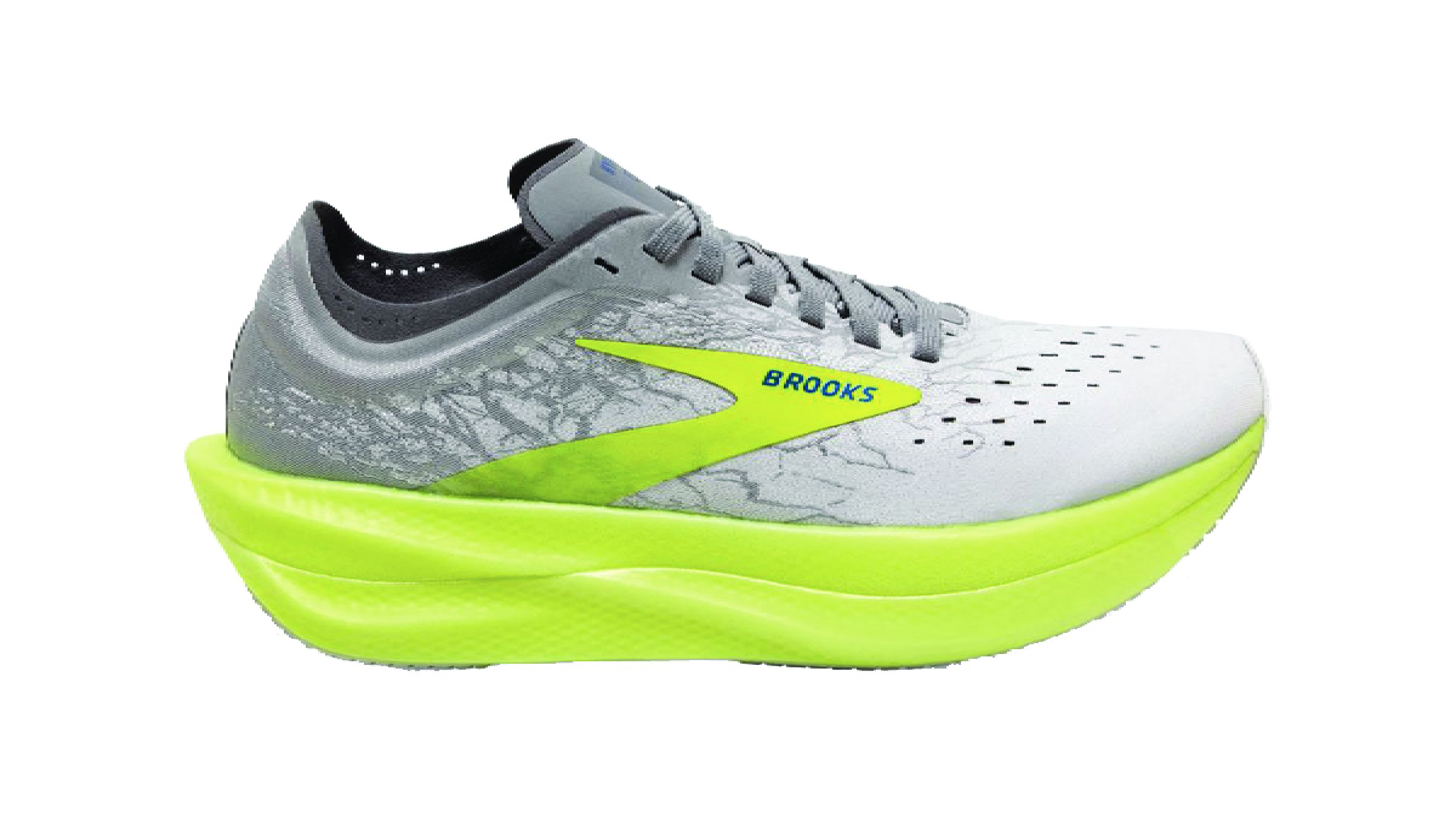 Grey and neon yellow Brooks Hyperion Elite 2 running shoe
