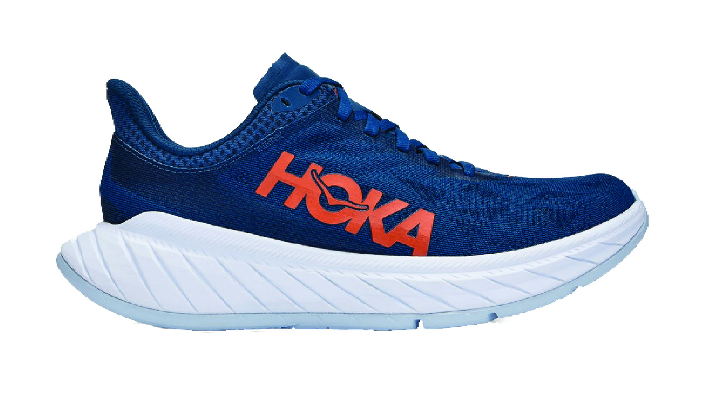 Navy blue HOKA Carbon X2 running shoe