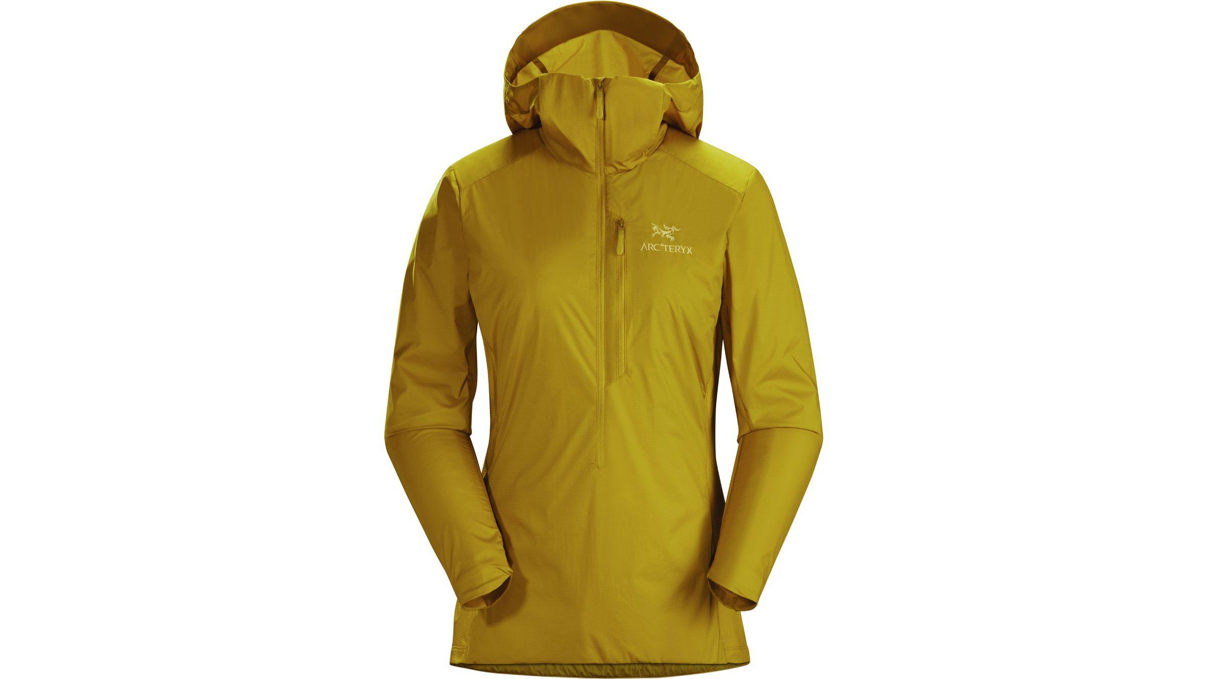 Mustard yellow Arc'teryx Atom SL hoodie