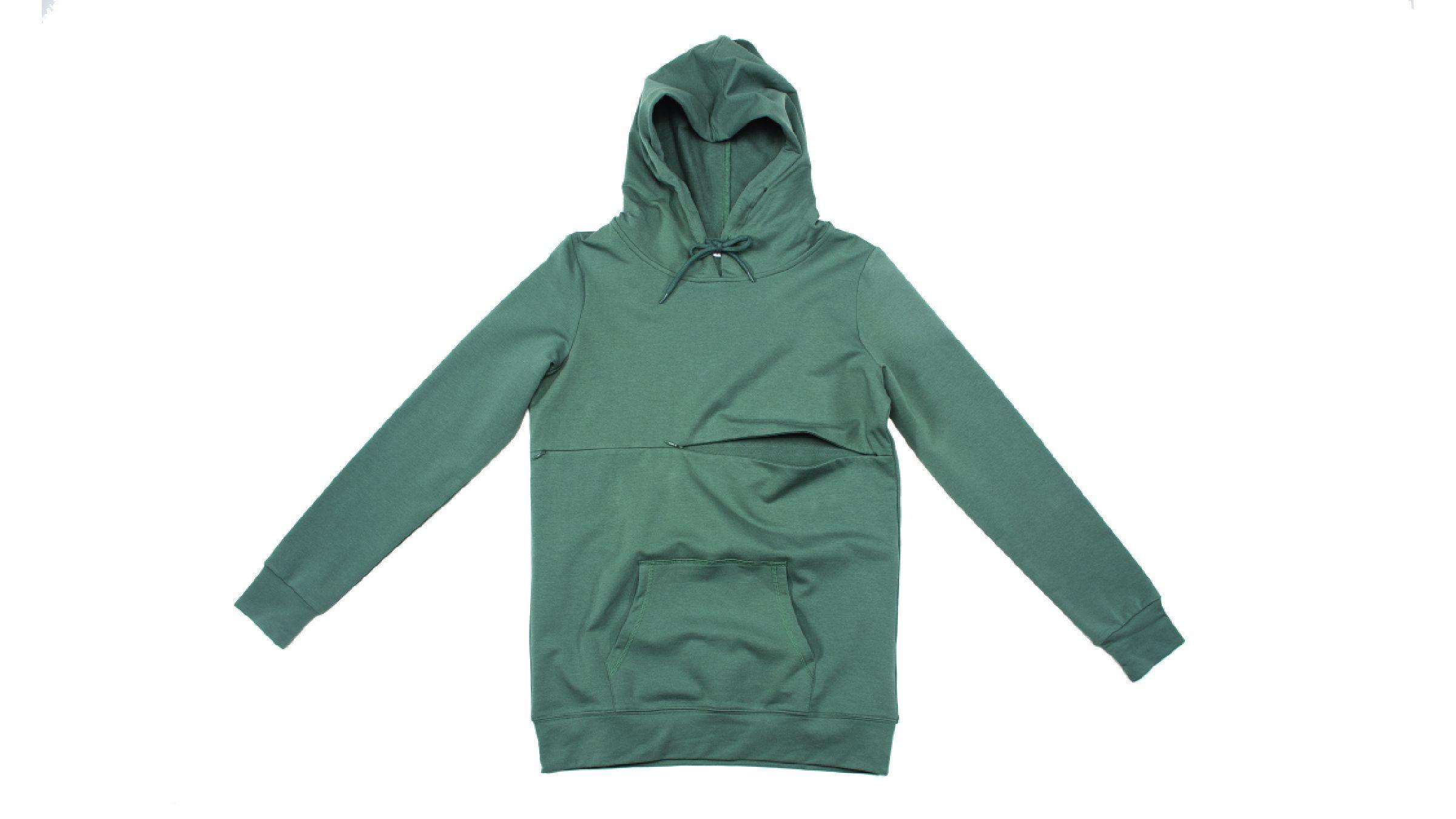 Sage green Cadenshae Breastfeeding hoodie