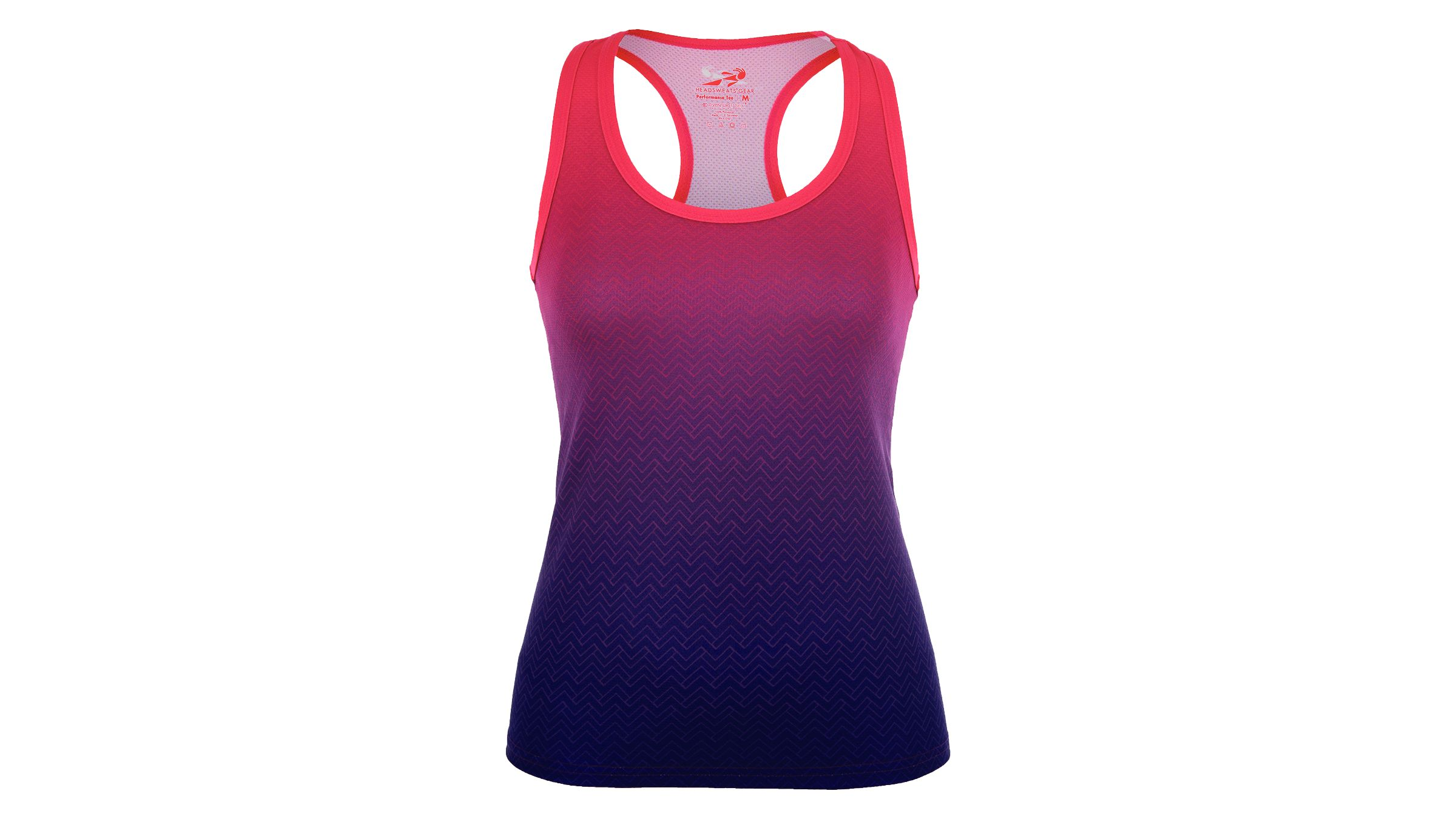Pink to purple gradient Headsweats Berries Singlet tank top