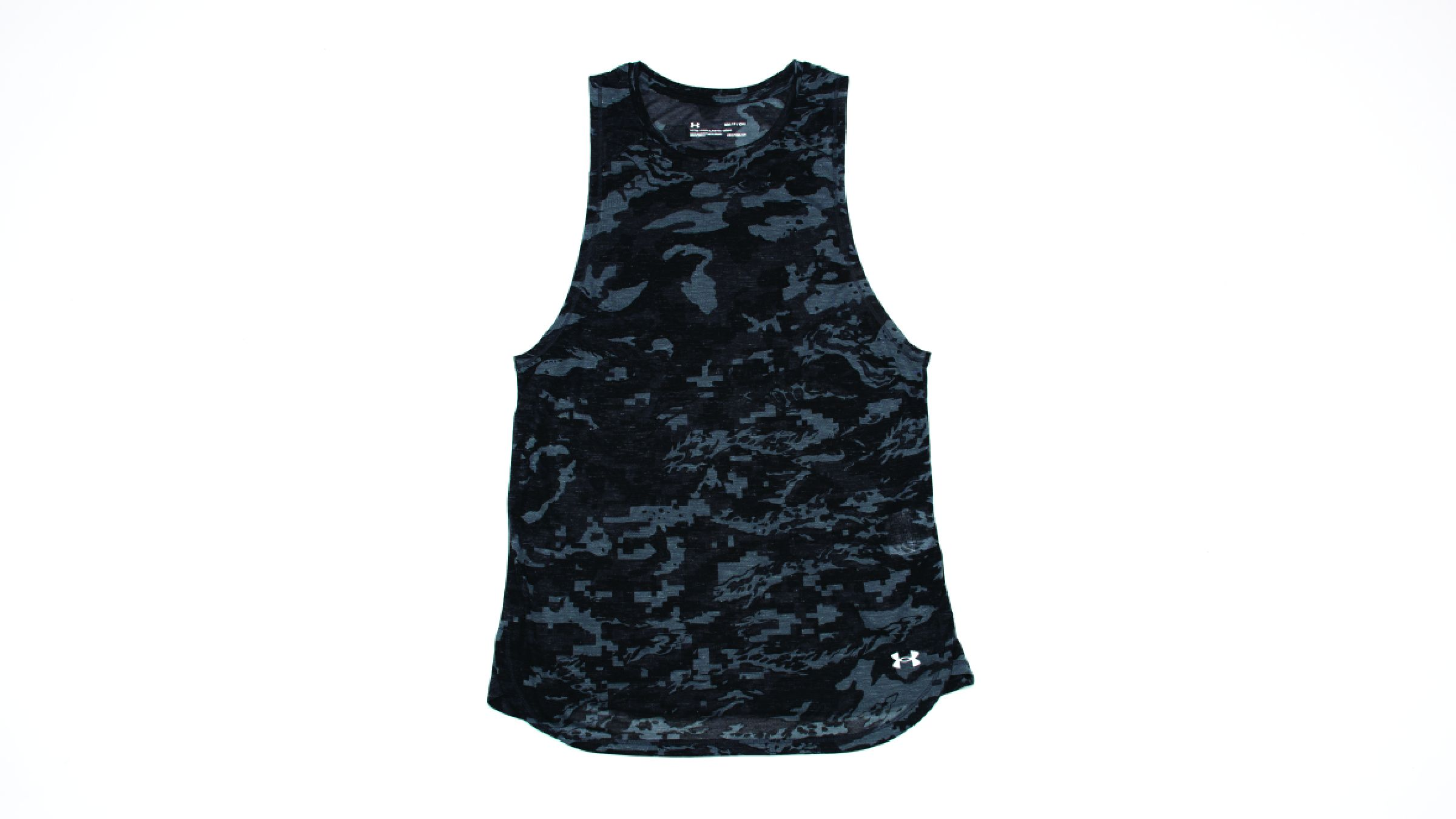 Black camo Under Armour Breeze Run Tank tank top