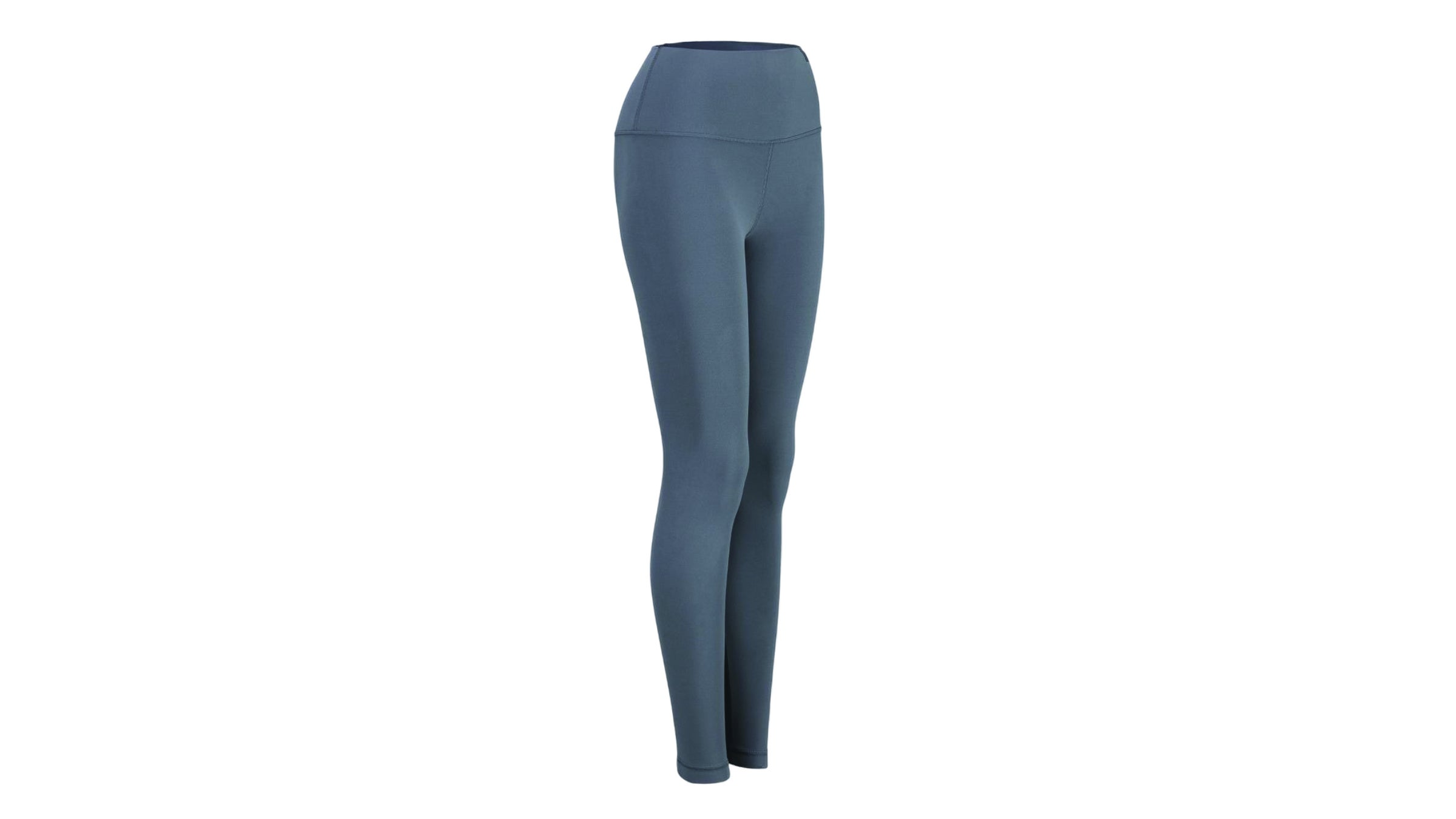 Blue-gray women's running tights