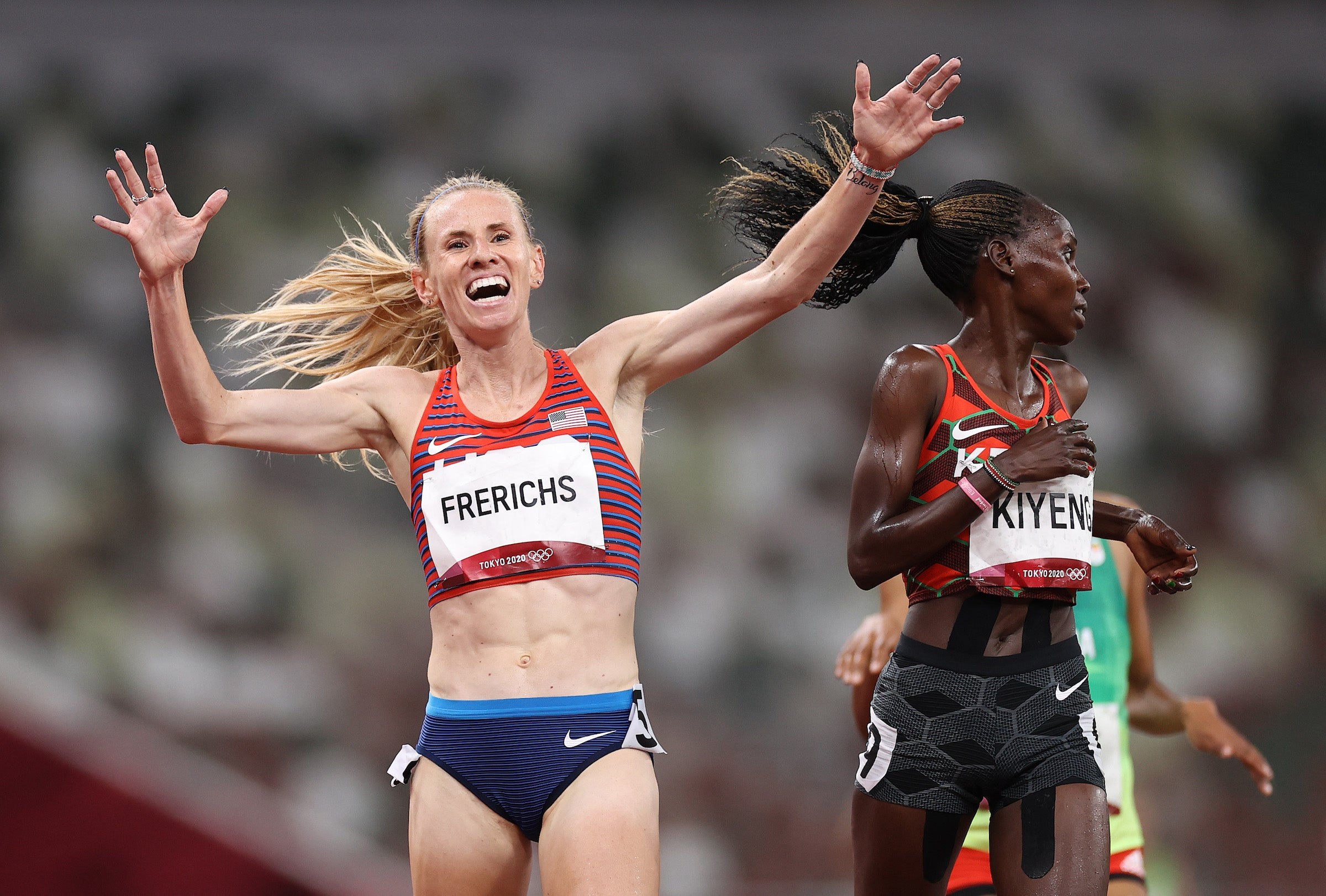Courtney Frerichs Silver, Peruth Chemutai Gold in 3000m Steeplechase